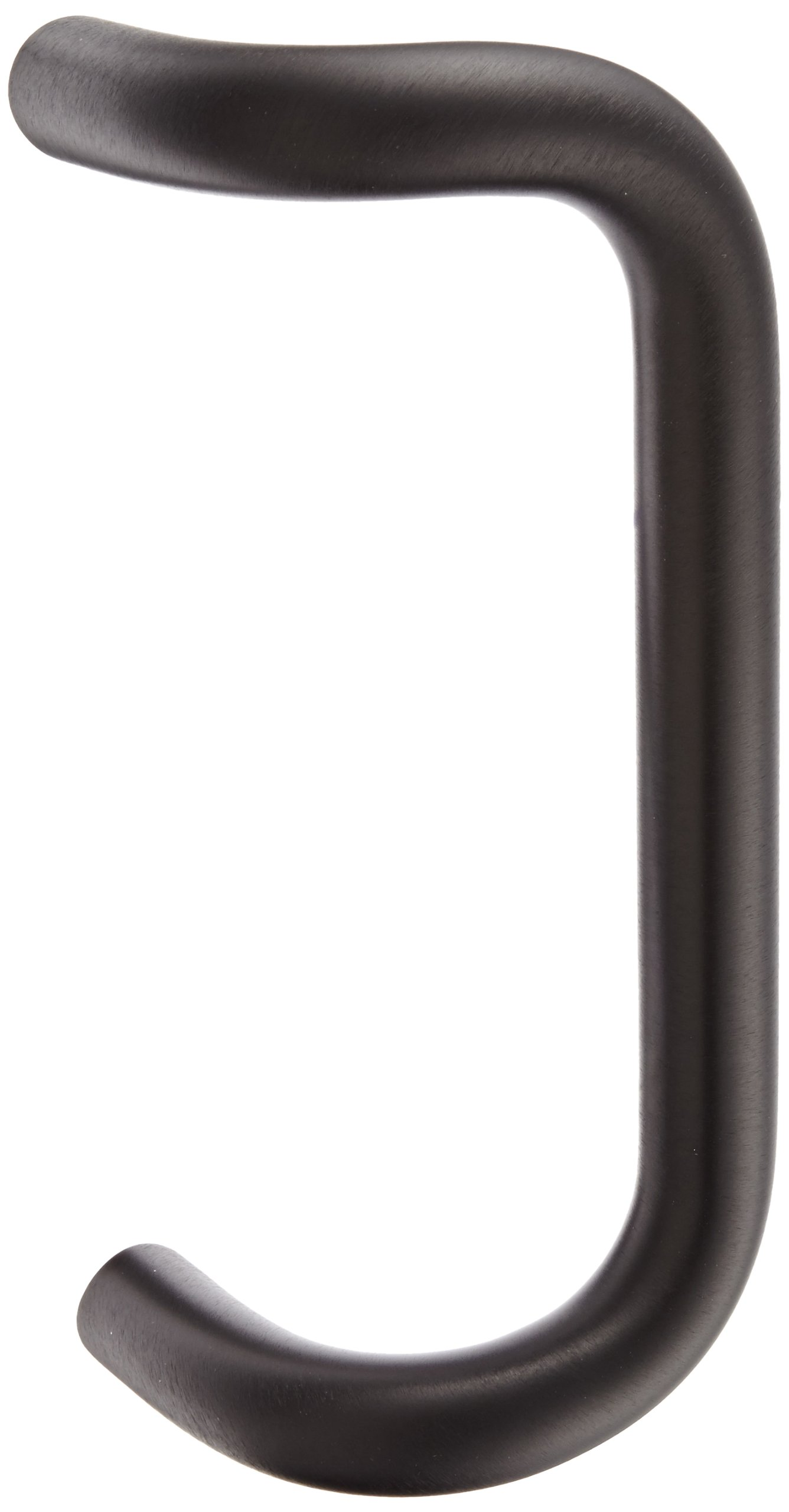 Rockwood BF157A.313 Aluminum 90-Degree Offset Door Pull, 1'' Diameter x 9'' Center-to-Center, Through Bolt Mounting for 1-3/4'' Door, Dark Bronze Anodized Finish