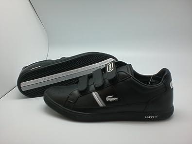 e1ac5fae3b833 Lacoste Europa Strap Trainers Men s Black  Amazon.co.uk  Shoes   Bags