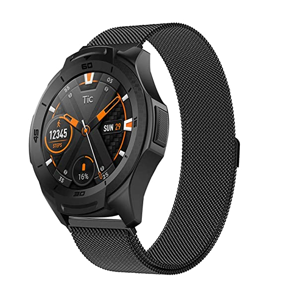 Aimtel Compatible TicWatch S2 Bands, 22mm Milanese Strap Replacement Band  Compatible Samsung 46mm/LG 22/46mm Watch/Samsung Gear S3 Frontier/S3  Classic