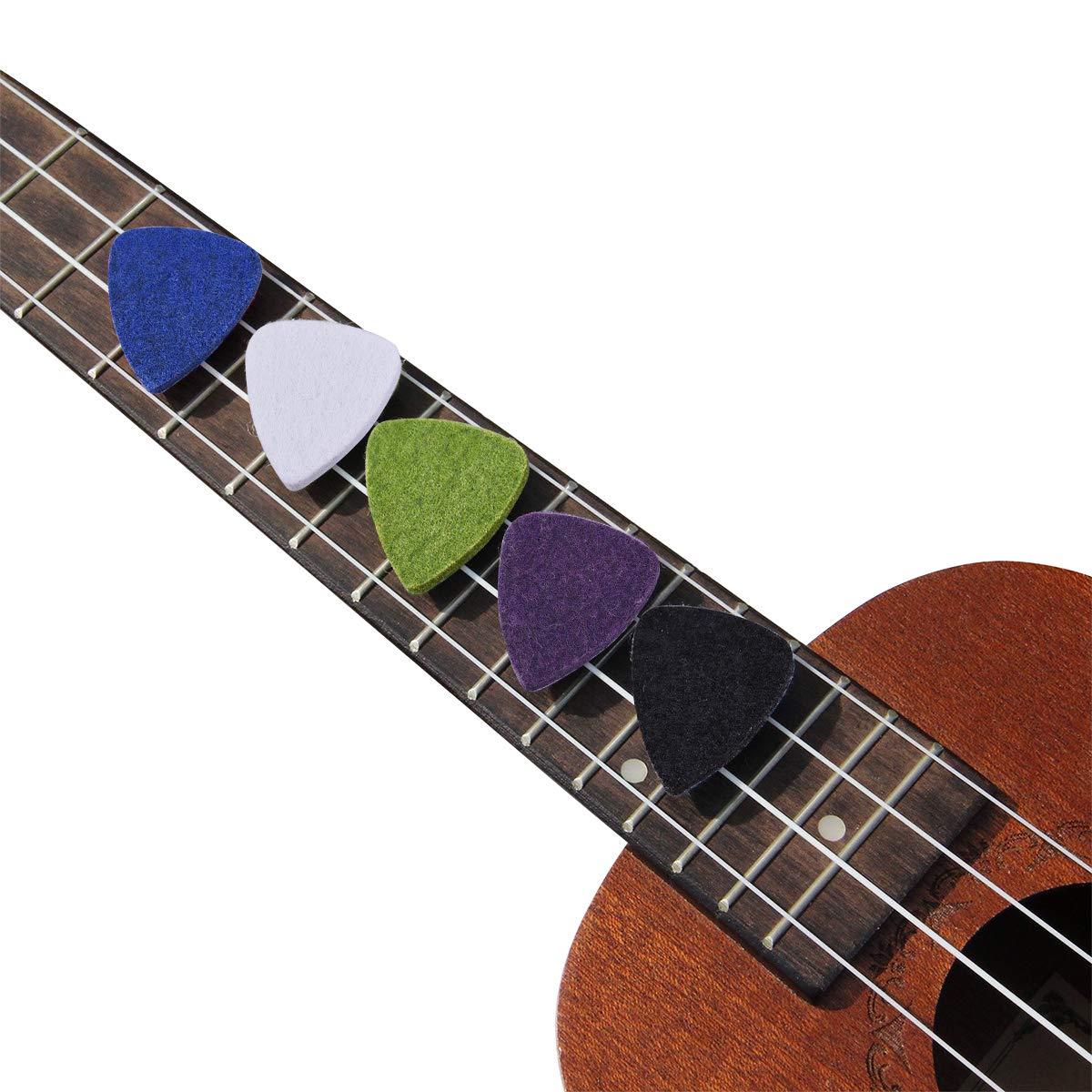 Amazon.com: púas de guitarra de dos estilos de fieltro púas ...