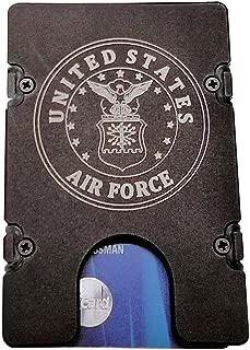 product image for HMC Billet United States Air Force RFID Protection Credit Card Holder Aluminum Wallet, Black