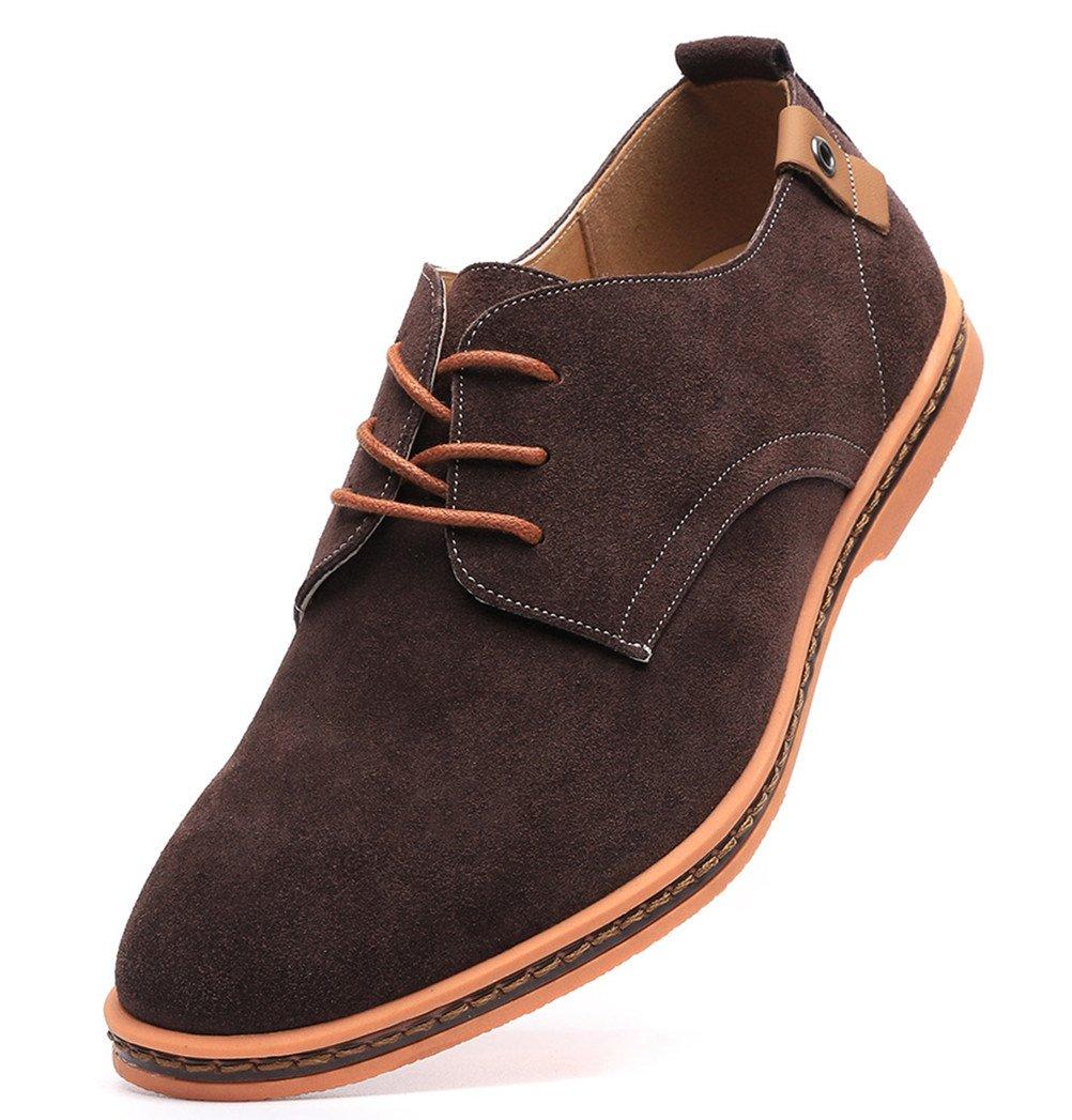 Dadawen Men's Brown Leather Oxford Shoe - 11 D(M) US by DADAWEN (Image #1)