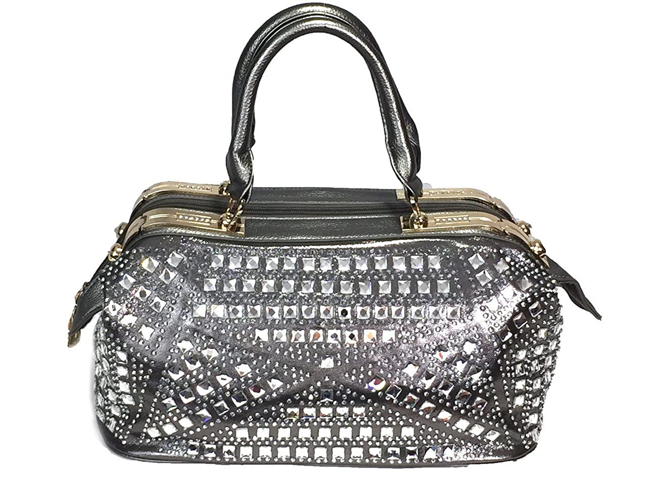 Zzfab Rhinestone Purse Gem Stone Doctor Bag Black at Amazon Women s Clothing  store  0a34a26bad84b