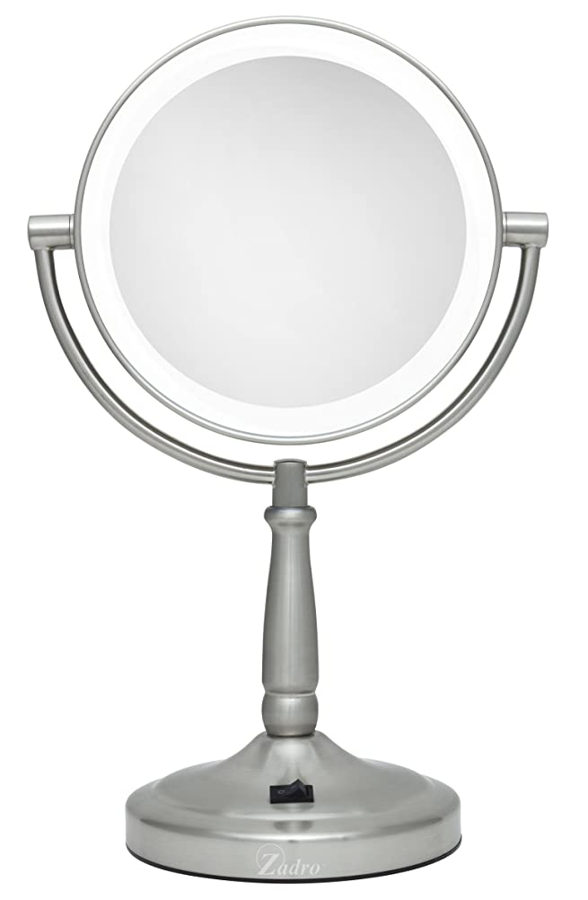 Zadro LEDV45 Surround Light Battery Powered LED Lighted 5X-1X Vanity  Mirror: Amazon.co.uk: Kitchen & Home