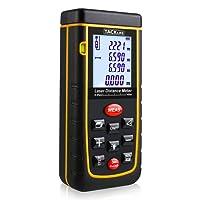 Tacklife A-LDM01 40 Advanced Laser-Entfernungsmesser Distanzmessgerät (Messbreich 0,05~40m/±2mm mit LCD Hintergrundbeleuchtung, Staub- und Spritzwasserschutz IP 54)