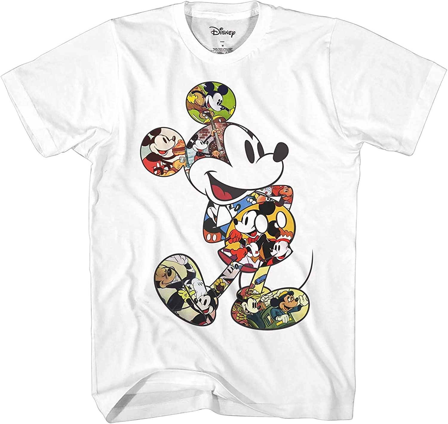 Mickey Mouse Scene Me Vintage Classic Disneyland World Adult Tee Graphic T-Shirt for Men Tshirt Clothing
