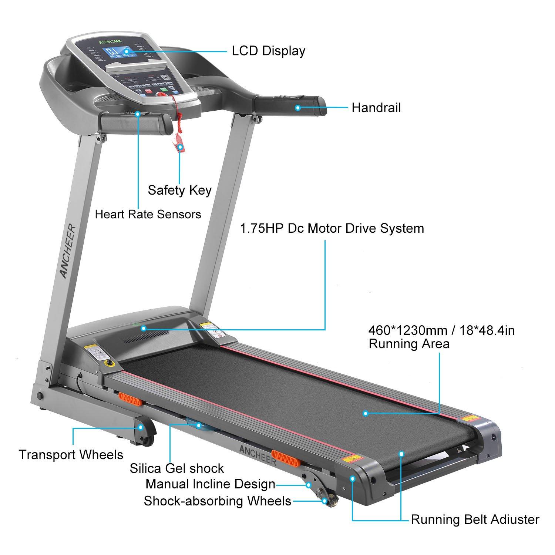 Cinta de correr Z900 eléctrica, plegable y con inclinación, con ...