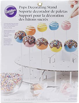 Sturdy and Easy to Assemble Decorative Dessert Stand for Wedding Birthday Baby Shower Parties 60 Hole Wooden Lollipop Holder Candy Table Display Nangor Wood Cake Pop Stand