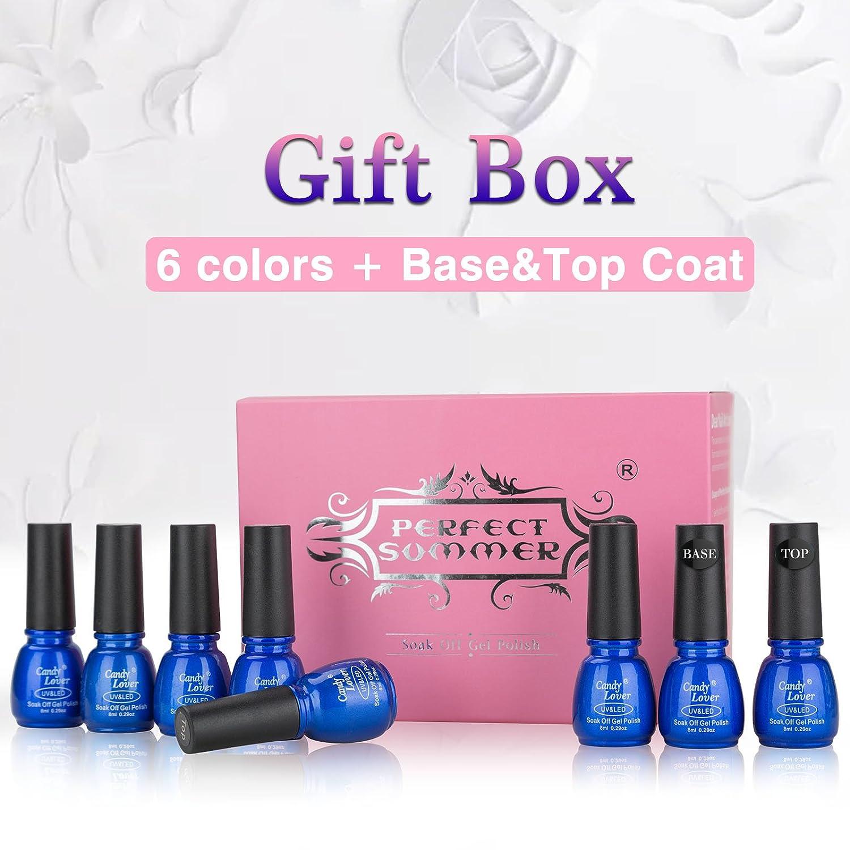 Amazon.com: Perfect Summer Gel Nail Polish - Soak Off UV/LED Gel ...