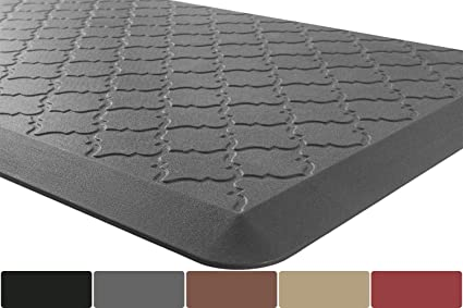 Anti-Fatigue Comfort Mat for Kitchen & Office Ergonomically Engineered Pad  Cushioned Standing Desk Mats Floor Rugs 36 x 24 inch,Gray