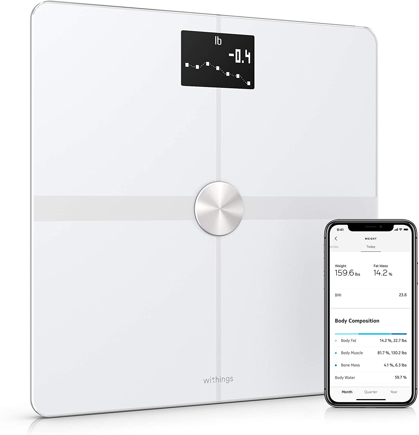 Withings Body+ - Balance Connectée WiFi et Bluetooth avec Analyse de la...