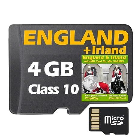 Micro Sd Karte 4gb.Grossbritannien Irland Topo Gps Karte 4gb Microsd Card Für