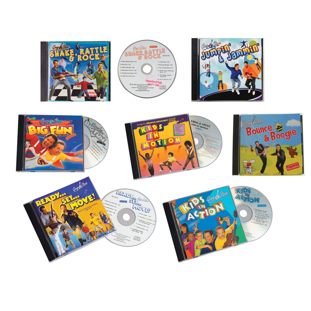 Constructive Playthings CPX-180 Greg & Steve Favorites Set of 7 CD's