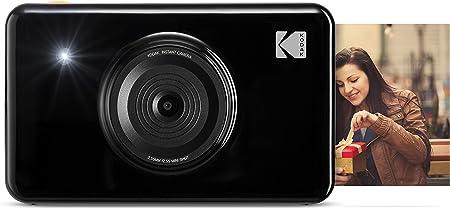 Oferta amazon: Kodak Mini Shot - Impresiones Inalámbricas de 5 X 7.6 cm con 4 Pass, Tecnología de Impresión Patentada, Cámara Digital de Impresión Instantánea 2 en 1, Negro, Basic