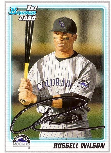 2010 Bowman Draft Picks Prospects Baseball #BDPP47 Russell Wilson Pre-Rookie Card - 1st Bowman Card