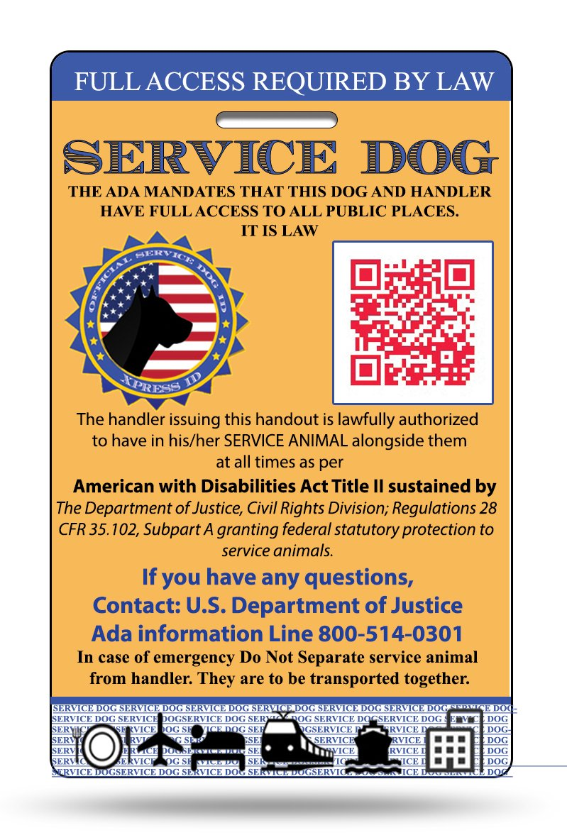 Xpress ID Service Dog ID Card | Includes Registration to National Dog Registry by Xpress ID (Image #1)