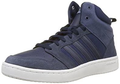 aed7bbab998 adidas Men s Cloudfoam Super Hoops Mid Hi-Top Trainers  Amazon.co.uk ...