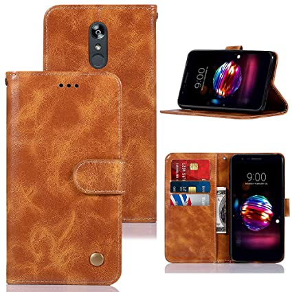 Case for LG Aristo 2/LG Tribute Empire/LG Tribute Dynasty/Aristo 3/ Rebel 3  L158VL/LG Rebel 4 LTE, Zoeirc PU Leather Wallet Flip Protective Case Cover