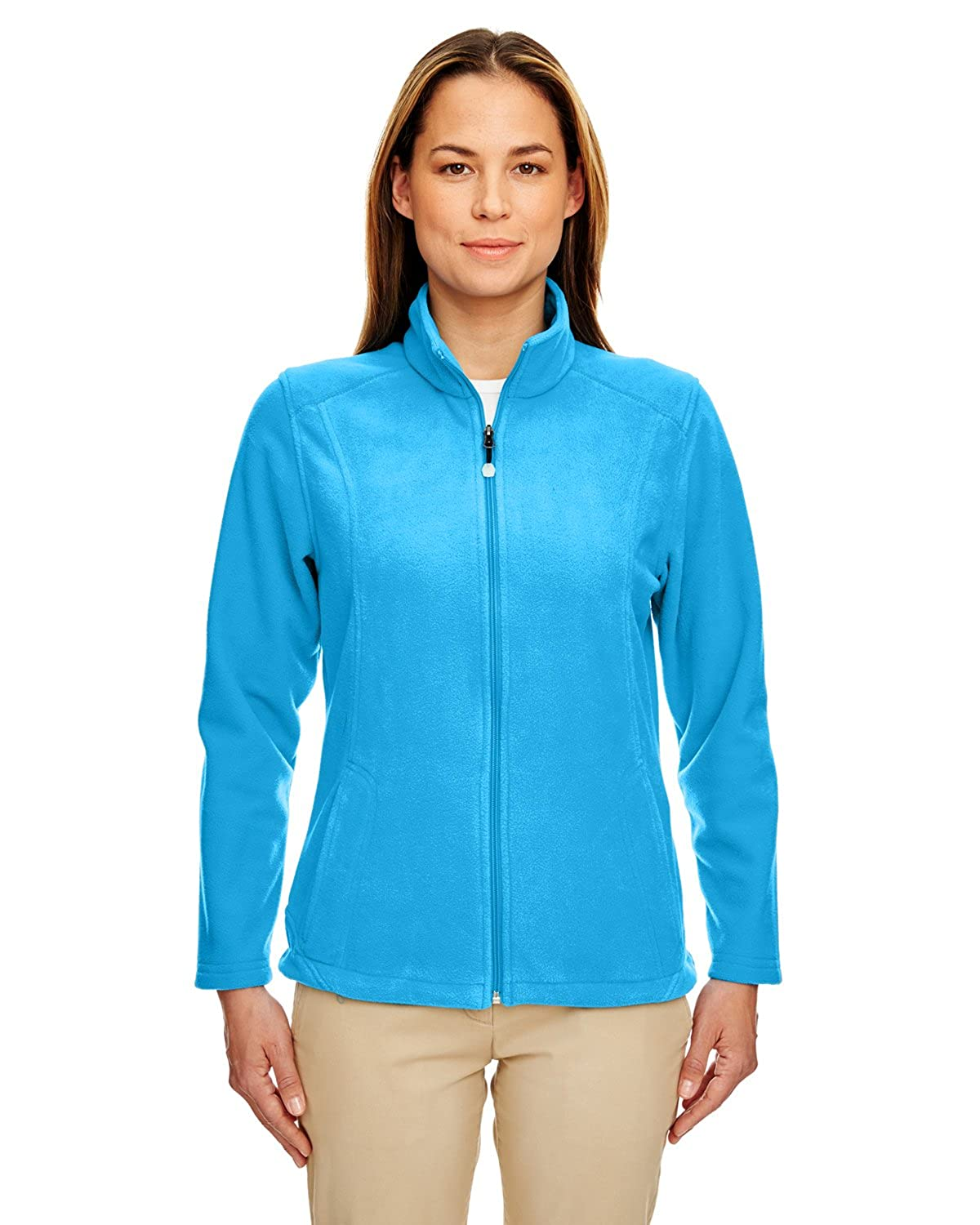 UltraClub Women's Micro Fleece Full-Zip Jacket 8498-Kinetic Blue-S