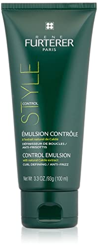 Rene Furterer STYLE Control Emulsion, Moisturizing Styling Cream, Humidity Frizz Protection, 3.3 oz.