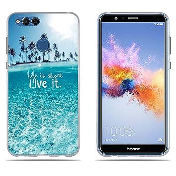 DIKAS Funda Huawei Honor 7X Carcasa de Silicona, Fina, Resistente a los Arañazos en su Parte Trasera, Amortigua los Golpes, Funda Protectora ...