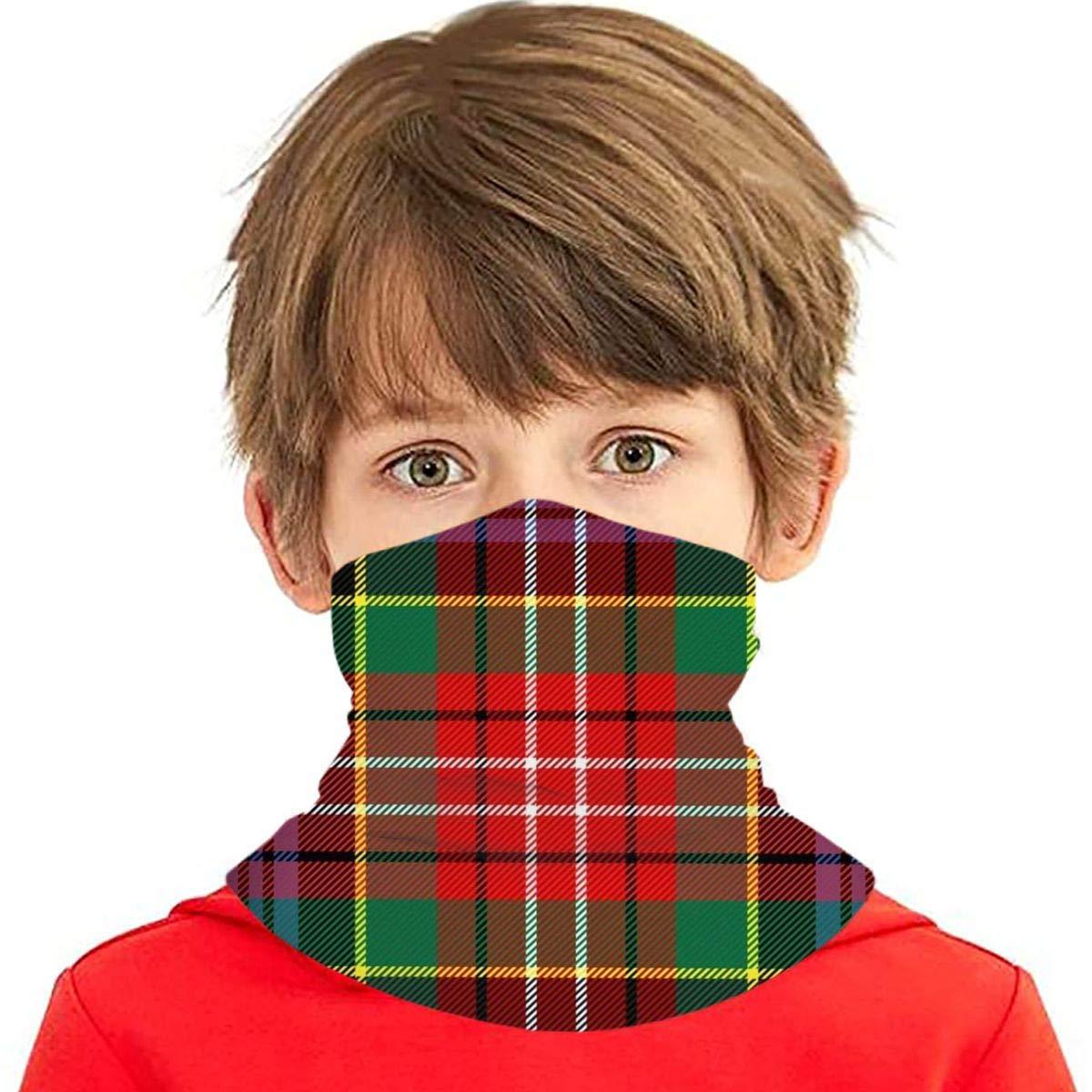 Máscaras faciales Lavable Uk Caledonia Tartan Escocés Cage Cage Polaina, Bufanda mágica, Bandana, Balaclava Bandanas