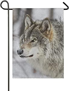 NOAON Banner Leader Wolf owl Garden Yard Flag Gift 28x40 Inch Outdoor Double Sided Indoor