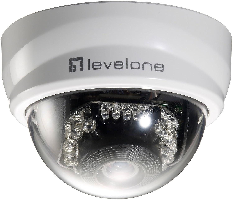 LevelOne Cámara de red domo fijas, 2-Megapixel, 802.3af PoE, día/noche, indicadores LED IR - Cámara de vigilancia (2-Megapixel, 802.3af PoE, día/noche, ...