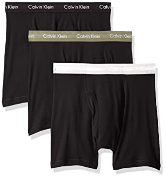 c6f1f01eb1bb Calvin Klein Men's 100% Cotton Boxer Briefs at Amazon Men's Clothing ...