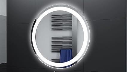 Badspiegel Designo Rund Mar111 Mit A Led Beleuchtung 50 Cm
