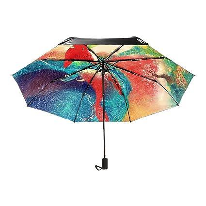b643ac4348f4 Amazon.com: Goldfish Folding Umbrella Rain Unisex Mini Pocket ...