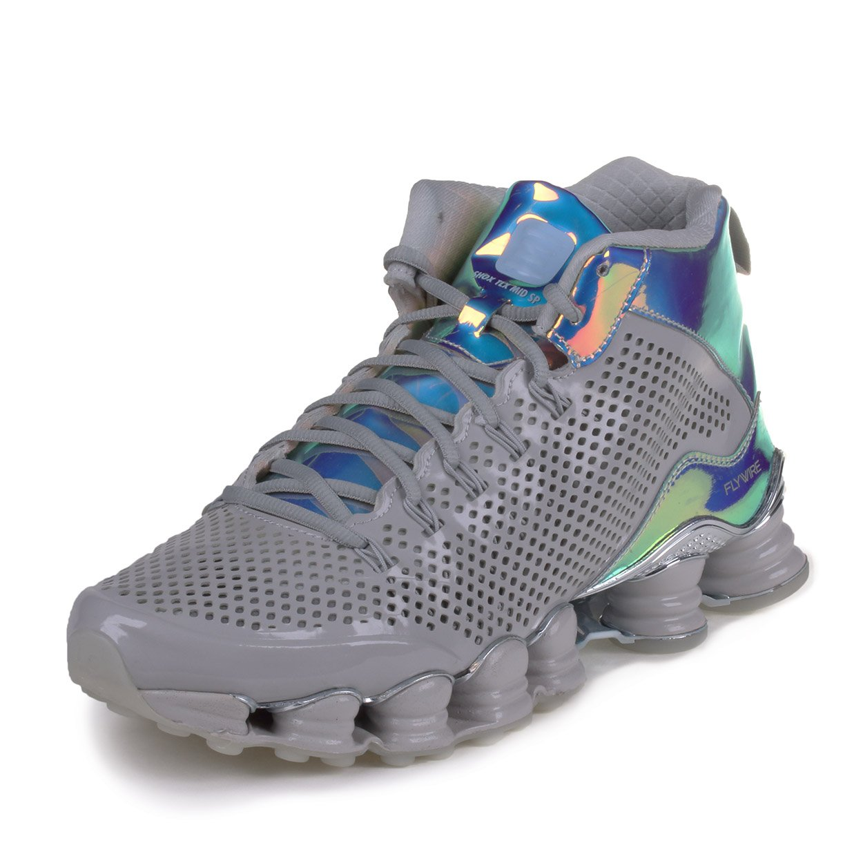 dd5d946ccc81 Nike shox TLX MID SP mens trainers running shoes dusty grey reflective  silver 006 uk 9.5 us 10.5 eu 44.5  Buy Online at Low Prices in India -  Amazon.in
