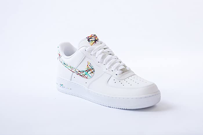 dcc27c4b69169 Amazon.com: Nike Air Force 1 low AF1 Custom spring splatter Edition by opc  kicks: Handmade