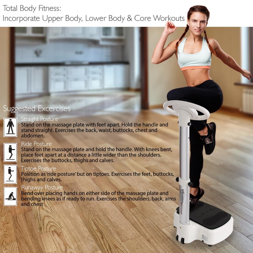 Standing Vibration Platform Exercise Machine - Revolutionary Equipment for Full Body Fitness Training - Digital LCD Display, Adjustable Settings Perfect for Weight Loss & Fat Burning - Pyle HURVBTR63 by Hurtle (Image #5)
