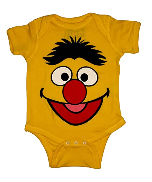 168ef0861 Image Unavailable. Image not available for. Color: Sesame Street Baby Boys  ERNIE One Piece Snap ...