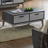 Maison Concept Montero Coffee Table Cabinet, Grey - H416 x W600 x D1000 mm