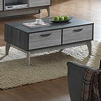 Maison Concept Montero Coffee Table Cabinet, Grey - H416 x W600 x D1000 mm