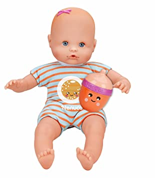 Nenuco - Mi pequeño, muñeca Con Biberón Sonajero y Pijama Naranja, (Famosa 700012087)