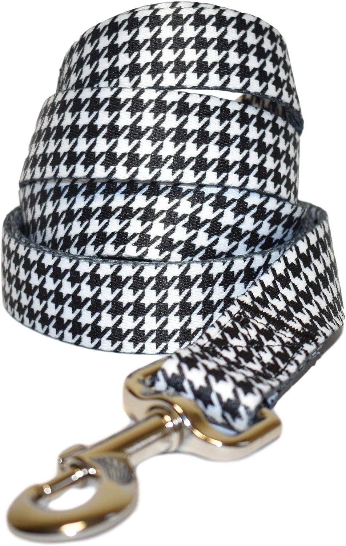 tama/ño mediano y grande color blanco y negro Paxleys Correa para perro de lujo