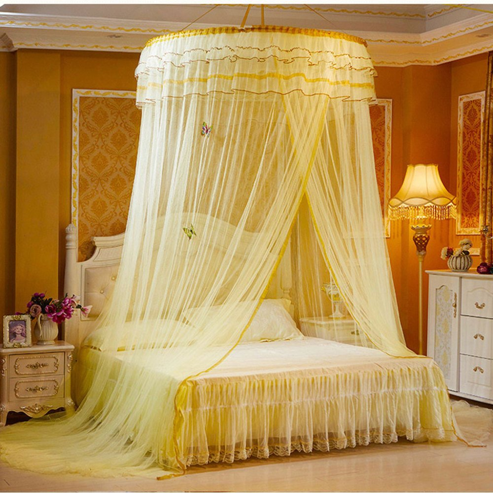 Lustar Court Style Mosquito Net Bed Canopy For Children Fly Insect Protection Indoor Decorative Height 270cm Top 1.2m Top Diameter 11m Hem