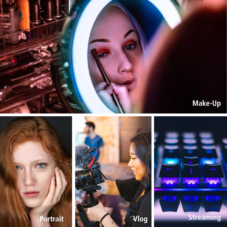 prodotto e videografia LED Video Light adatto per ritratto App Control Rollei Lumen LED Flashlight RGB Bi-Color Video Light