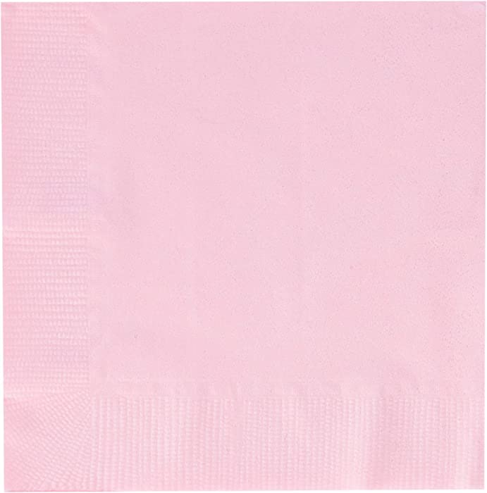 Creative Converting Party Tableware 2-Ply Beverage Napkin, Party Supplies, One Size, Classic Pink, 50
