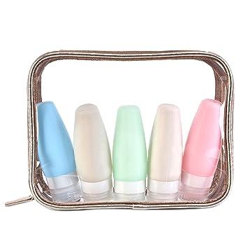 Amazon.com: NiceEbag TSA - Botellas de viaje con bolsa de ...