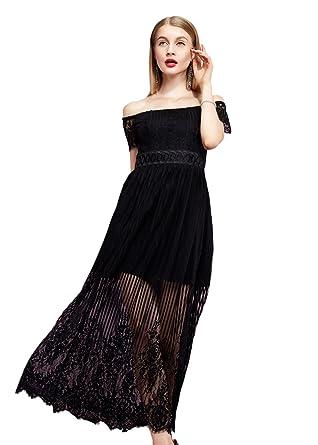 Robe noire dentelle de papier