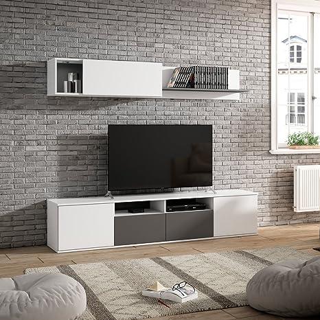 Fabri-kit Soggiorno parete attrezzata mobile porta TV bianco arredo ...