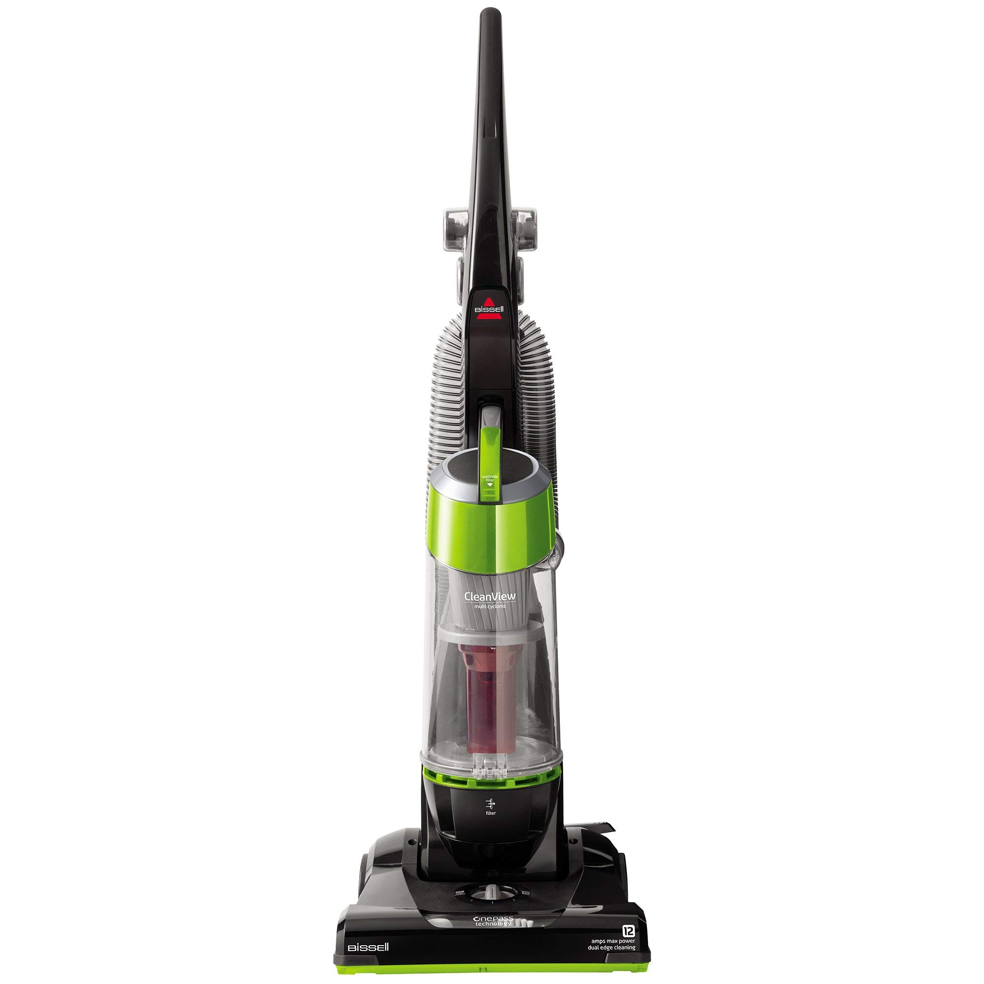 Bissell CleanView Bagless Upright Vacuum, Green, 95957 (Renewed) by Bissell