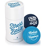 Candescent Stress Balls - Hand Therapy Relief for Anxiety, Fidget, Tension, Exercise Strengthener - Motivational Toys for Adu