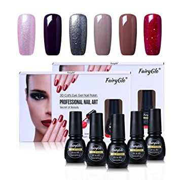 Gel Nail Polish Nail Art Varnish Uv Led Soak Off Manicure 6pcs By