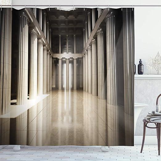 Pilar Decor cortina de ducha por Ambesonne, 3d modelo estilo ...