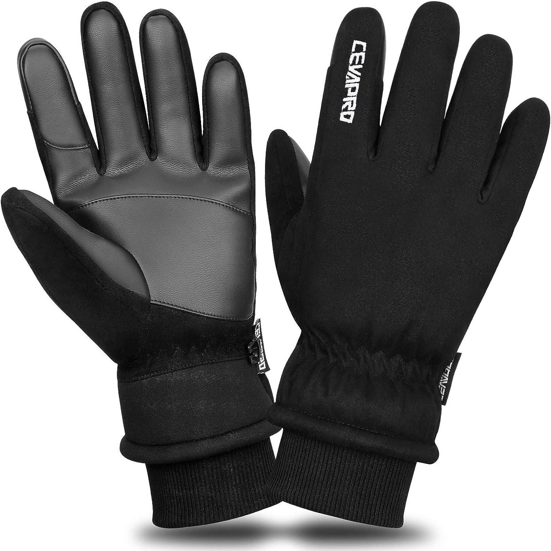 40℉ Winter Gloves Waterproof Ski Gloves 3M Insulated Snowboard Gloves Cevapro